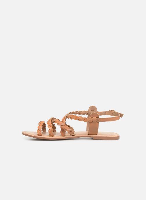 Sandales et nu-pieds I Love Shoes KEBRAID Leather Marron vue face