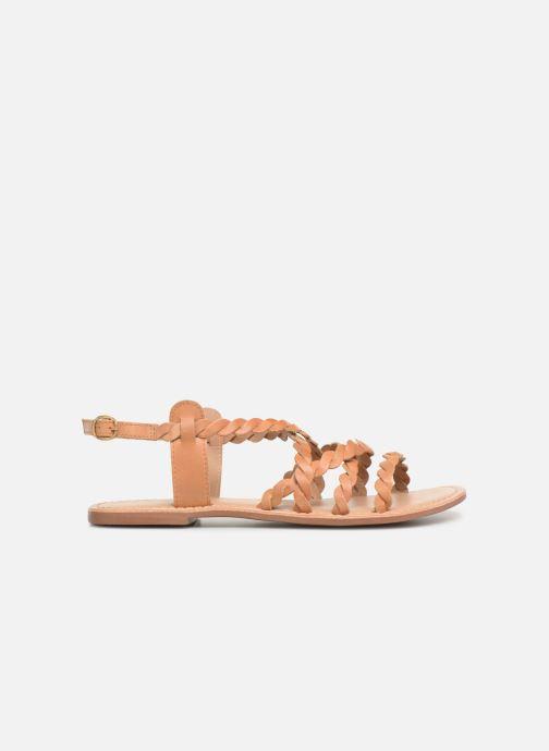 Sandales et nu-pieds I Love Shoes KEBRAID Leather Marron vue derrière