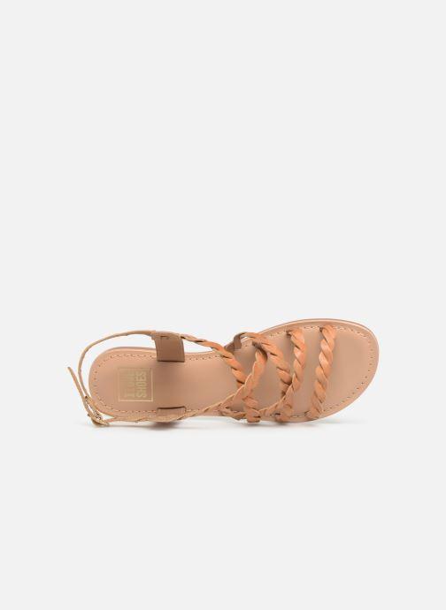 Sandalias I Love Shoes KEBRAID Leather Marrón vista lateral izquierda