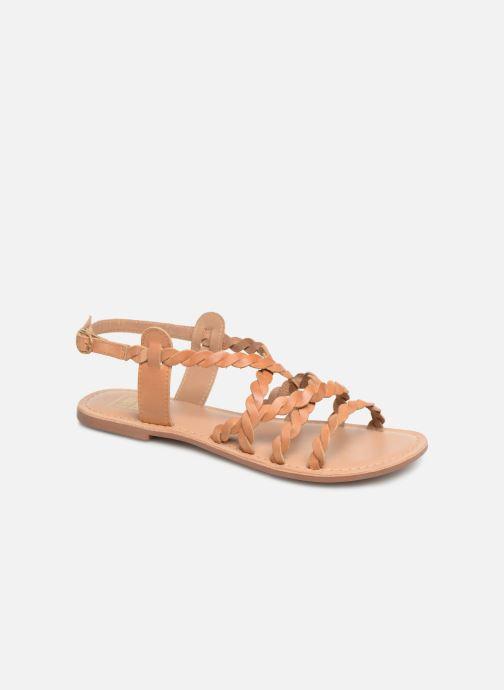 Sandales et nu-pieds I Love Shoes KEBRAID Leather Marron vue détail/paire