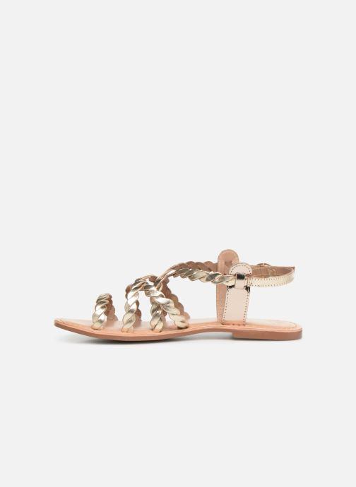 Sandales et nu-pieds I Love Shoes KEBRAID Leather Or et bronze vue face