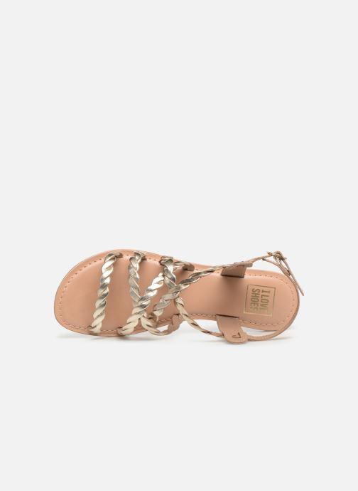 Sandales et nu-pieds I Love Shoes KEBRAID Leather Or et bronze vue gauche