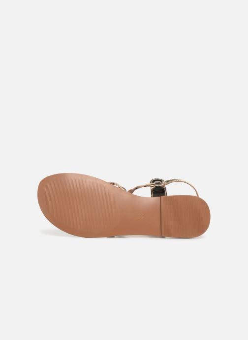Sandales et nu-pieds I Love Shoes KEBRAID Leather Or et bronze vue haut