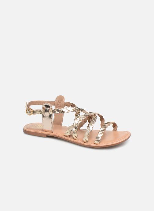Sandales et nu-pieds I Love Shoes KEBRAID Leather Or et bronze vue détail/paire