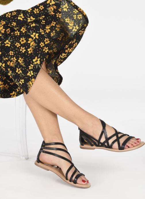 Sandalen I Love Shoes KEDRAP Leather schwarz ansicht von unten / tasche getragen