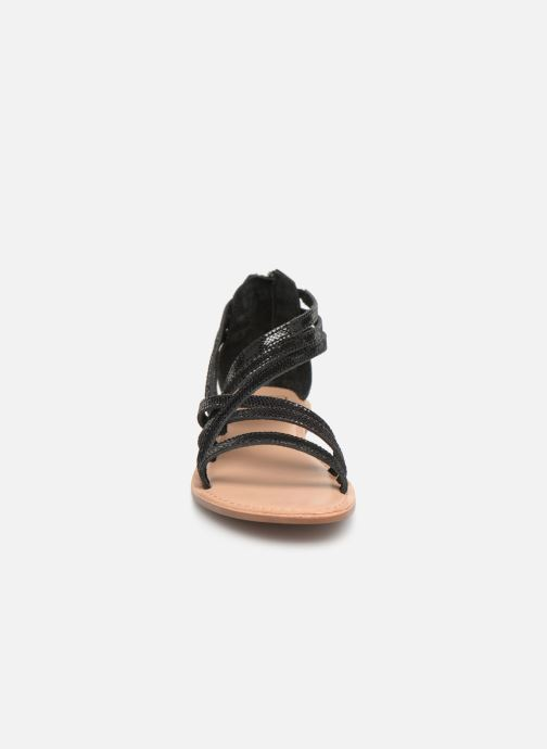 Sandali e scarpe aperte I Love Shoes KEDRAP Leather Nero modello indossato