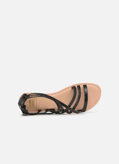 Sandales et nu-pieds I Love Shoes KEDRAP Leather Noir vue gauche