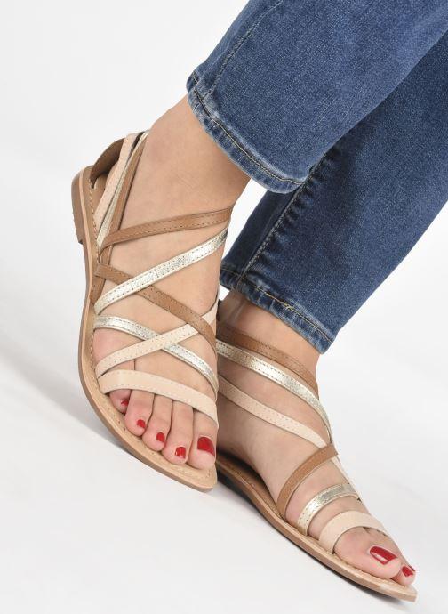 Sandalen I Love Shoes KEDRAP Leather braun ansicht von unten / tasche getragen