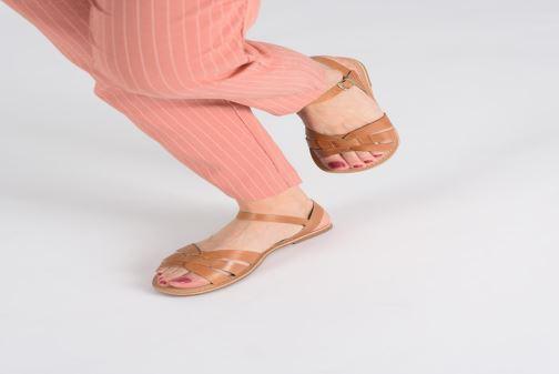 Sandales et nu-pieds I Love Shoes KESUN Leather Marron vue bas / vue portée sac