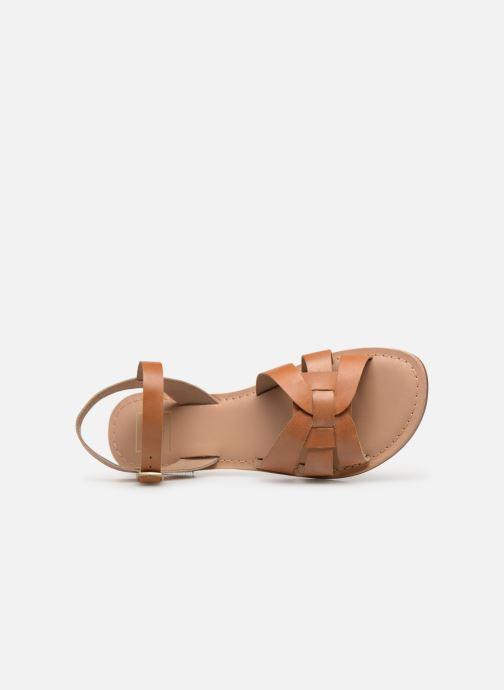 Sandalias I Love Shoes KESUN Leather Marrón vista lateral izquierda