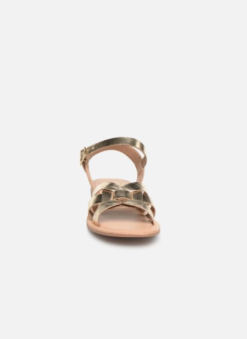 Sandals I Love Shoes KESUN Leather Bronze and Gold model view