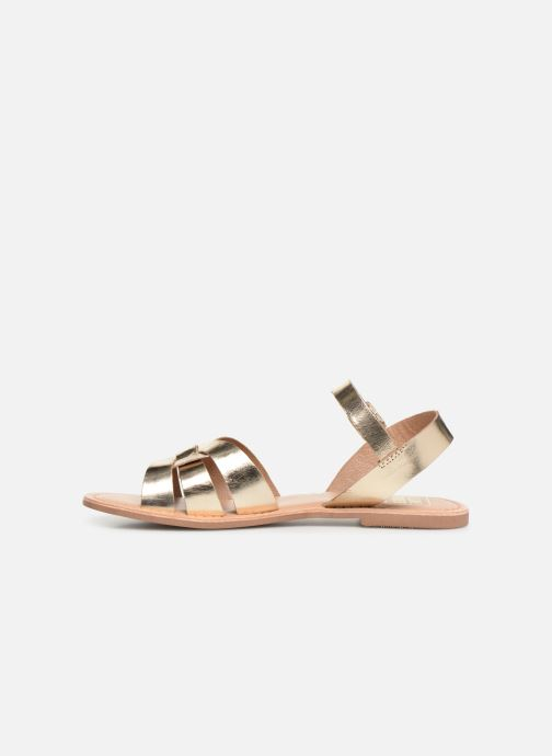Sandals I Love Shoes KESUN Leather Bronze and Gold front view
