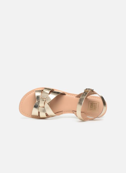 Sandals I Love Shoes KESUN Leather Bronze and Gold view from the left