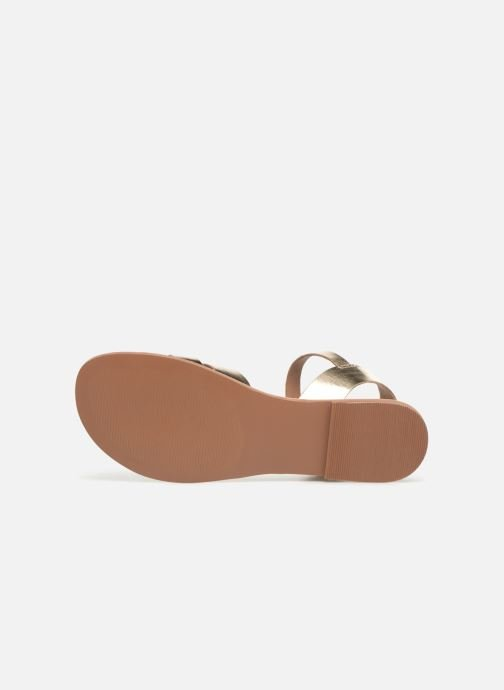 Sandals I Love Shoes KESUN Leather Bronze and Gold view from above