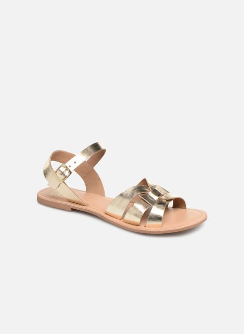 Sandals I Love Shoes KESUN Leather Bronze and Gold detailed view/ Pair view