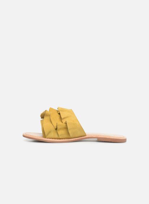 Zuecos I Love Shoes KEVOL Leather Amarillo vista de frente