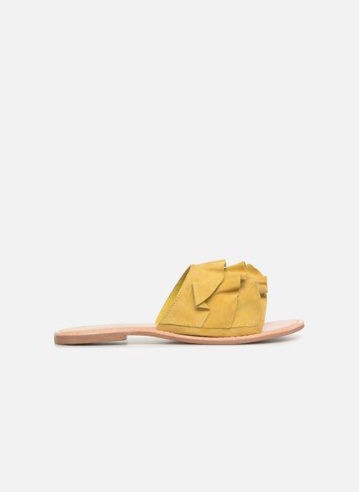 Zuecos I Love Shoes KEVOL Leather Amarillo vistra trasera