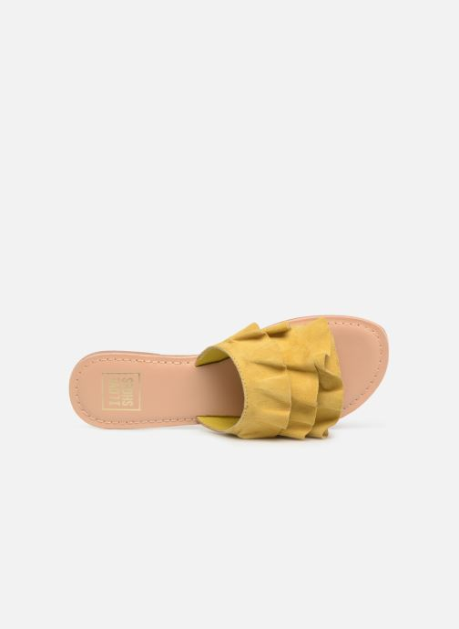 Zuecos I Love Shoes KEVOL Leather Amarillo vista lateral izquierda