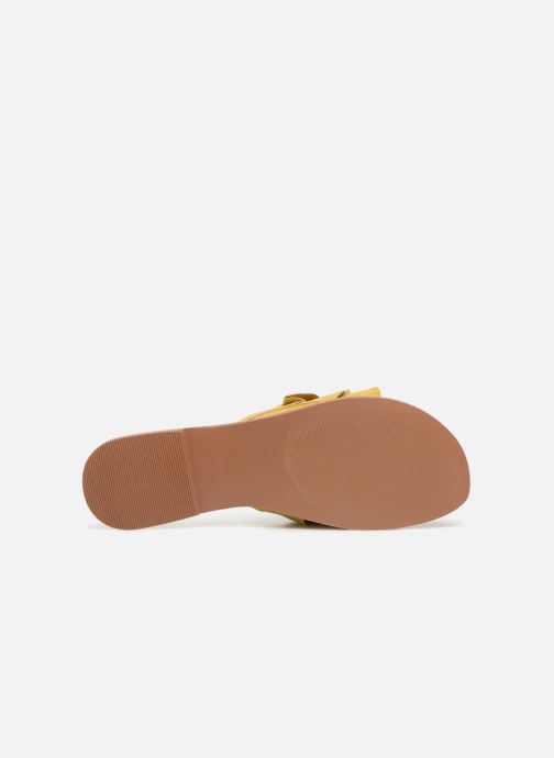 Zuecos I Love Shoes KEVOL Leather Amarillo vista de arriba