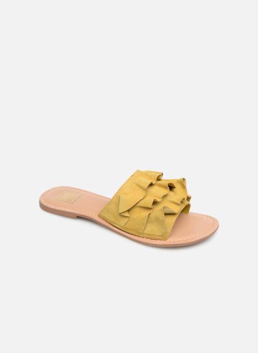 Zuecos I Love Shoes KEVOL Leather Amarillo vista de detalle / par