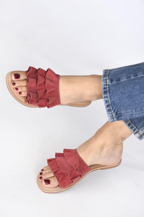 Mules et sabots I Love Shoes KEVOL Leather Rose vue bas / vue portée sac
