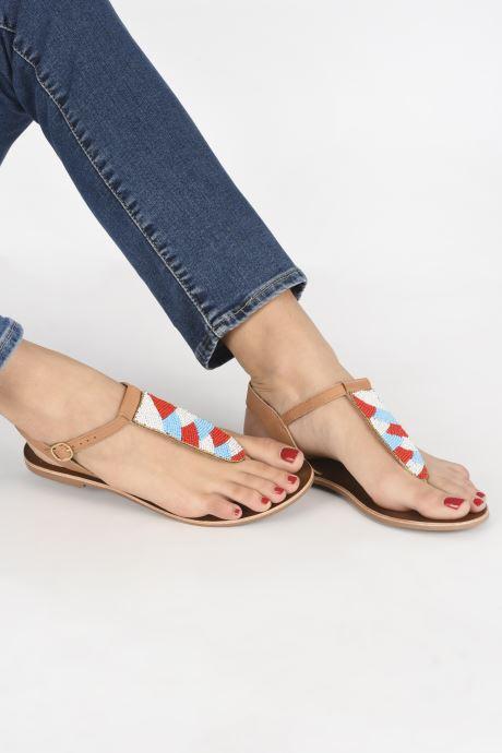 Sandales et nu-pieds I Love Shoes KEPERLA Leather Marron vue bas / vue portée sac
