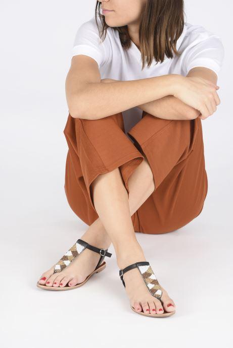 Sandales et nu-pieds I Love Shoes KEPERLA Leather Noir vue bas / vue portée sac