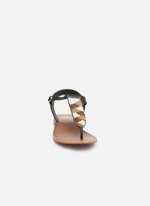 Sandali e scarpe aperte I Love Shoes KEPERLA Leather Nero modello indossato