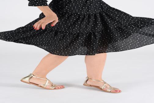 Sandales et nu-pieds I Love Shoes KEVESTAL Leather Or et bronze vue bas / vue portée sac