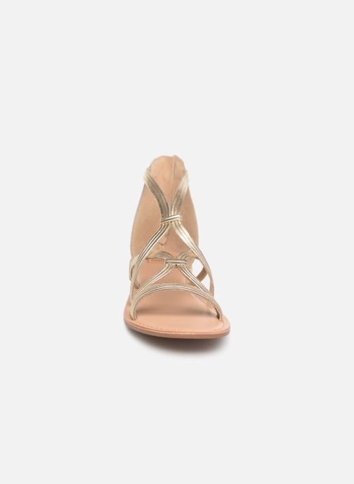 Sandali e scarpe aperte I Love Shoes KEVESTAL Leather Oro e bronzo modello indossato