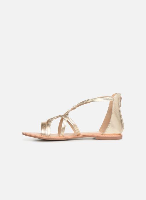 Sandales et nu-pieds I Love Shoes KEVESTAL Leather Or et bronze vue face