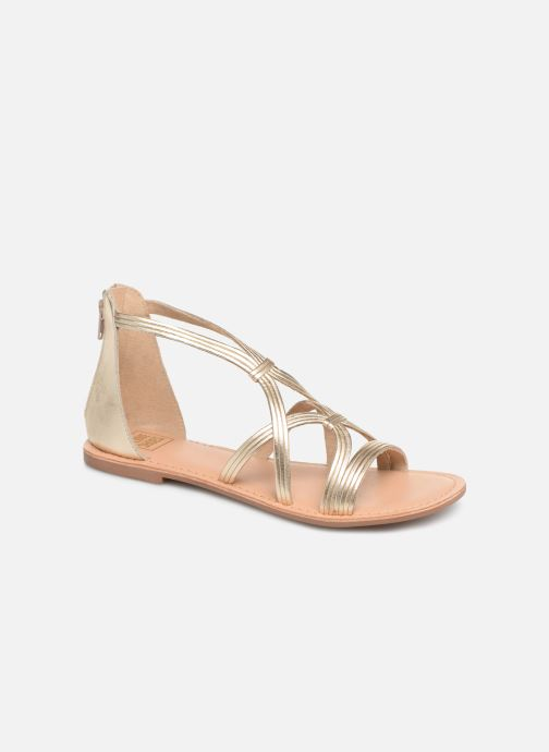 Sandalias I Love Shoes KEVESTAL Leather Oro y bronce vista de detalle / par