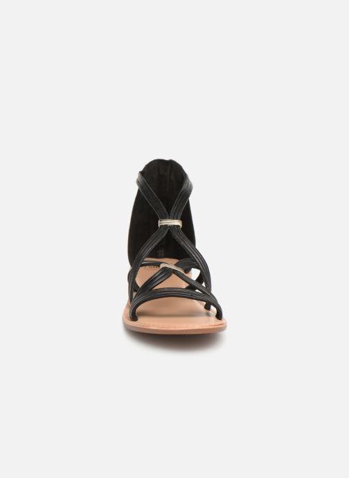 Sandali e scarpe aperte I Love Shoes KEVESTAL Leather Nero modello indossato