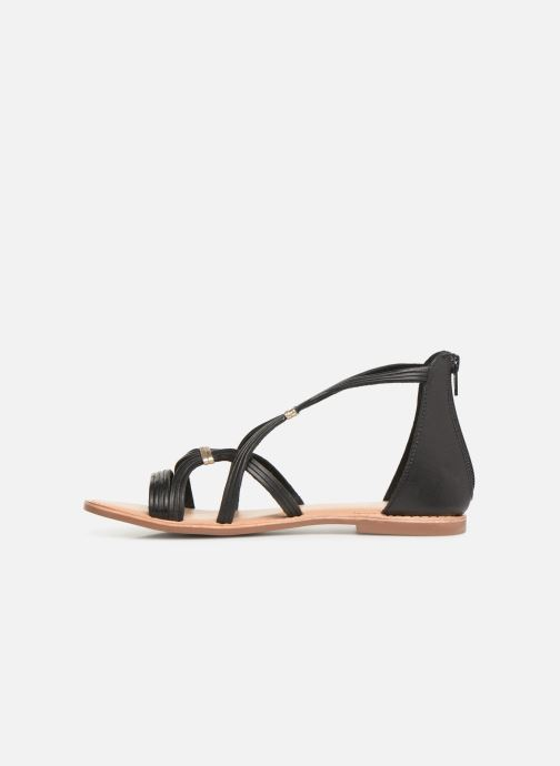Sandals I Love Shoes KEVESTAL Leather Black front view