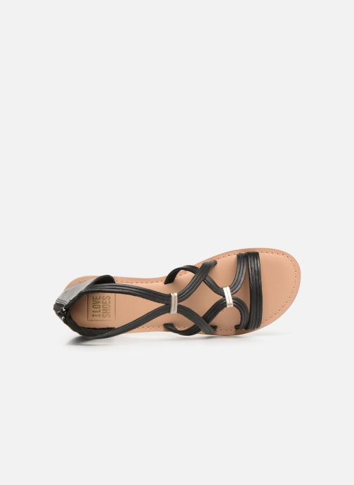 Sandals I Love Shoes KEVESTAL Leather Black view from the left