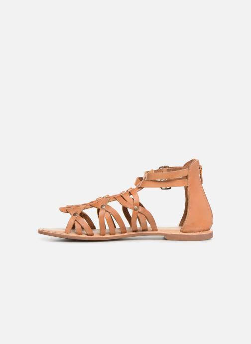 Sandales et nu-pieds I Love Shoes KEMARY Leather Marron vue face