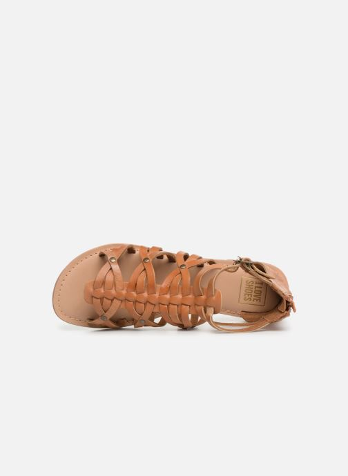 Sandali e scarpe aperte I Love Shoes KEMARY Leather Marrone immagine sinistra
