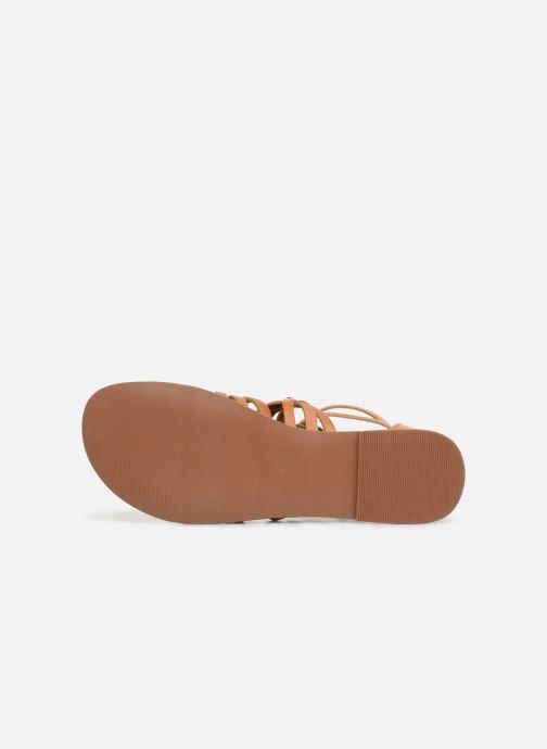 Sandali e scarpe aperte I Love Shoes KEMARY Leather Marrone immagine dall'alto