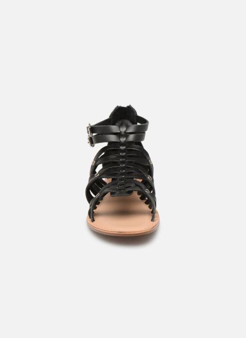 Sandali e scarpe aperte I Love Shoes KEMARY Leather Nero modello indossato