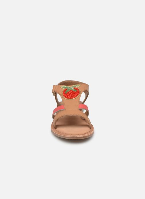 Sandals I Love Shoes Kefresia Leather Brown model view