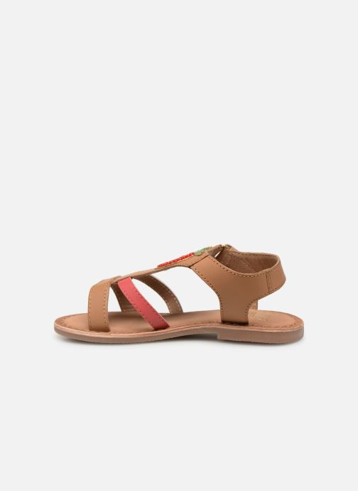 Sandals I Love Shoes Kefresia Leather Brown front view