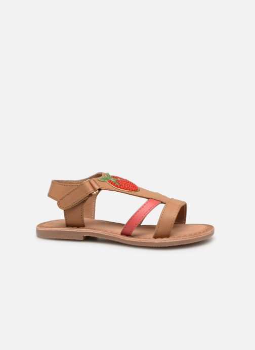 Sandals I Love Shoes Kefresia Leather Brown back view