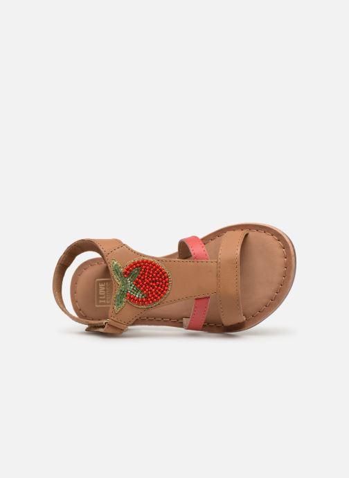 Sandalias I Love Shoes Kefresia Leather Marrón vista lateral izquierda