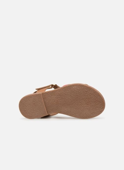 Sandals I Love Shoes Kefresia Leather Brown view from above