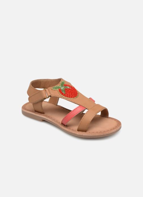 Sandals I Love Shoes Kefresia Leather Brown detailed view/ Pair view
