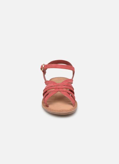Sandales et nu-pieds I Love Shoes Kanala Leather Rose vue portées chaussures