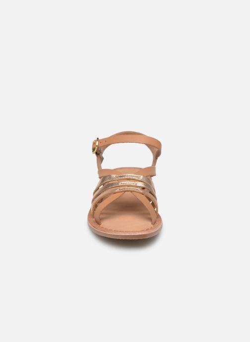 Sandales et nu-pieds I Love Shoes Kanala Leather Marron vue portées chaussures