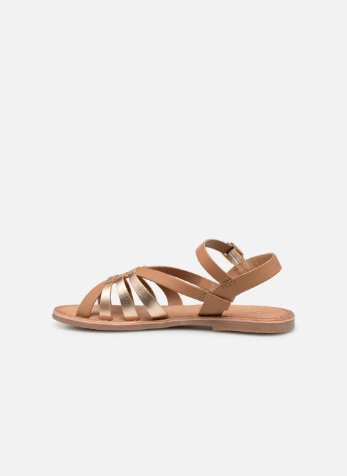 Sandales et nu-pieds I Love Shoes Kanala Leather Marron vue face