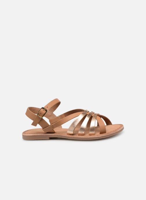 Sandales et nu-pieds I Love Shoes Kanala Leather Marron vue derrière
