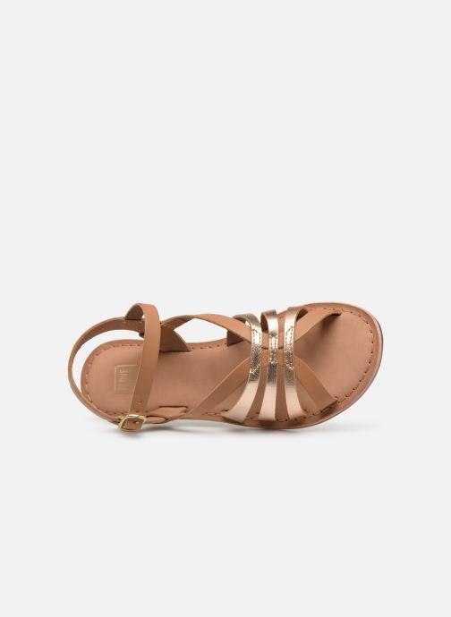 Sandales et nu-pieds I Love Shoes Kanala Leather Marron vue gauche